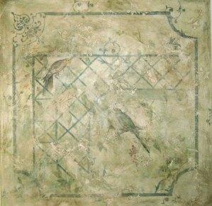 """""""Pássaros Treliça"""" (1,50 x 1,50) - Técnica Mista"""
