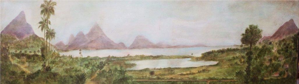 """Vista da Lagoa"" (.60 x 1,50) - Técnica Mista"