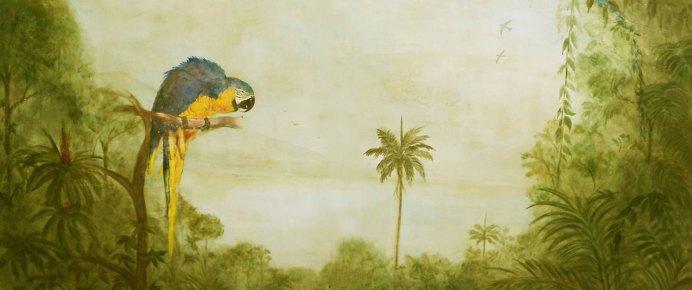 """Arara Azul""  (1,20 x 1,80) - Técnica mista"