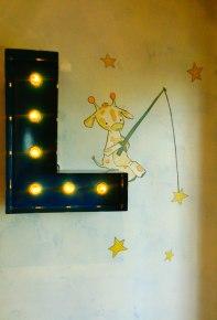 """Pintura """"Girafinha pescando"""""""