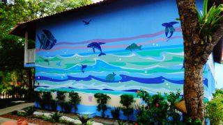 Mural Pousada Rio do Peixe - Cumuruxatiba - BA