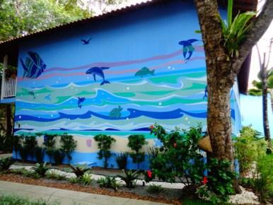 Mural finalizado! Onde estão os Wallys? :)