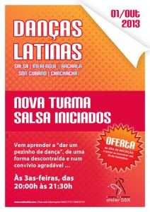 Cartaz da nova turma de danças latinas