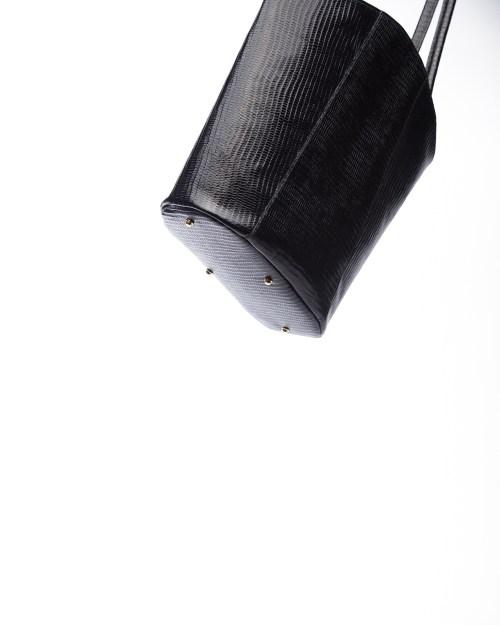 Atelier de Corium - Midi tote in Black Lizard Print bottom