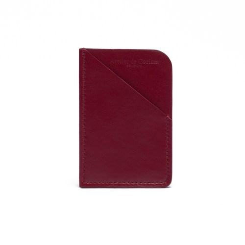 Atelier de Corium - Bordeaux Minimalist Cardholder