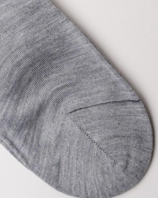 Grey Hand-linked Merino and Silk Socks close-up