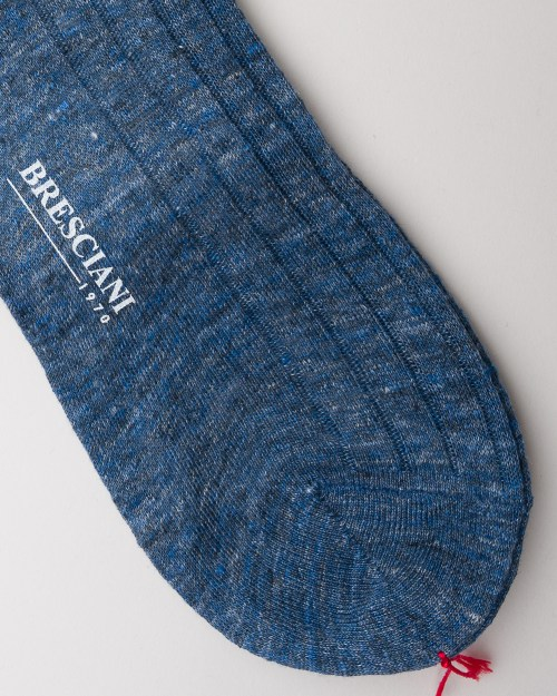 Bresciani Jeans Linen Socks close-up