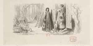 Gustave Doré, illustration pour La Cigale et la fourmi.