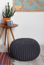 Cable Knit Pouf