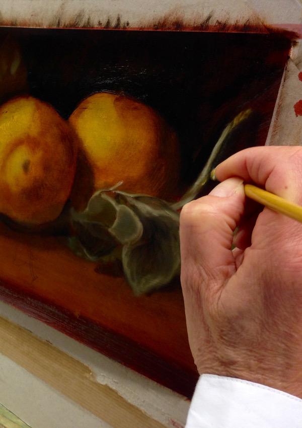 Cours de peinture : fruits