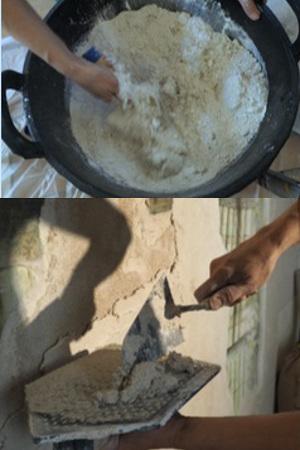 Atelier fresque : Préparation