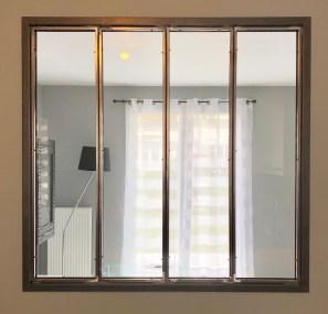 Verrière d'intérieur en acier brut