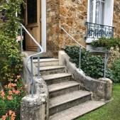 Rampe d'escalier acier extérieure