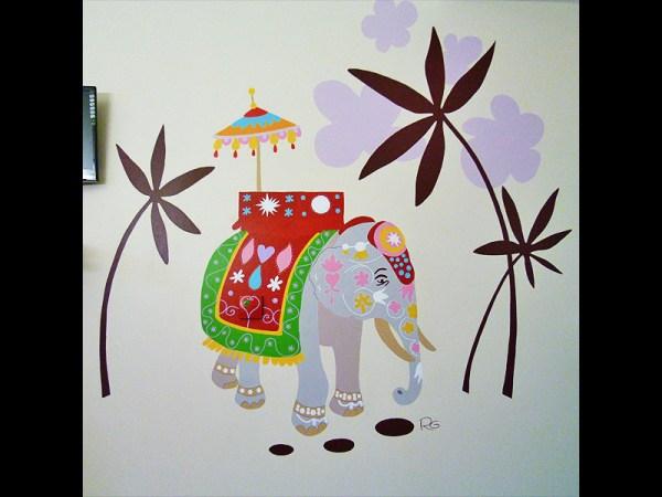 FRESQUE-asie-elephant-fleur-lotus-yoga-enfant-toulouse-hopital-décoration-2