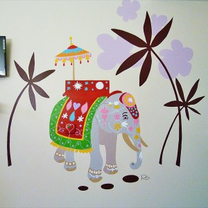 FRESQUE-asie-elephant-fleur-lotus-yoga-enfant-toulouse-hopital-décoration-2