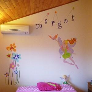 fresque-decoration-handpainting-chambre-enfant-fée-fleurs-couleurs-1