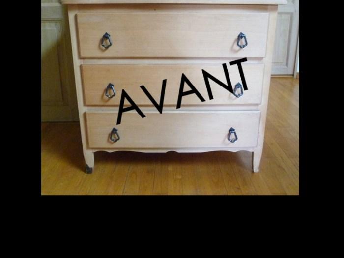 AVANT-APRES-meuble-commode-nordique-pin-tiroirs-patine-bois-masion-vacances-AVANT
