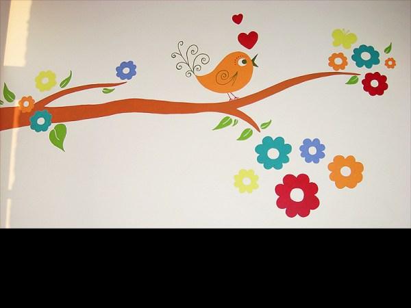 fresque-cantine-ecole-nature-vache-fleur-campagne-peinture-murale-3