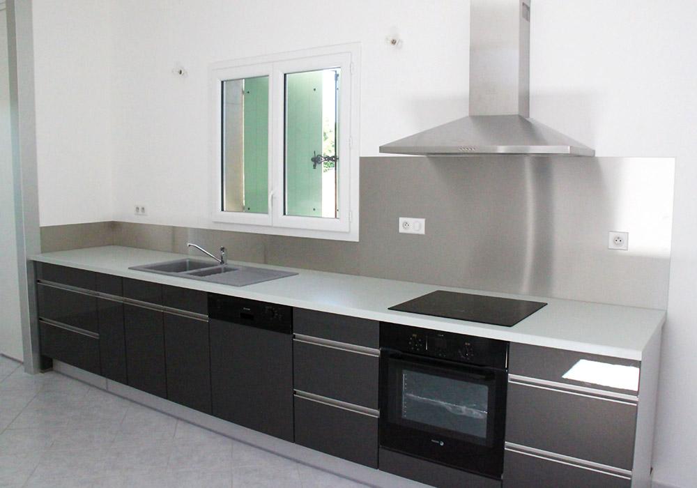 Plan De Travail Cuisine Inox Brosse Novocom Top