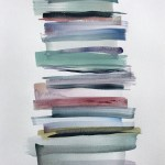Stacks 8_Watercolour painting pastel coloured stripes that look like piled up books