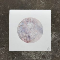 Baby Moon 2 watercolor painting