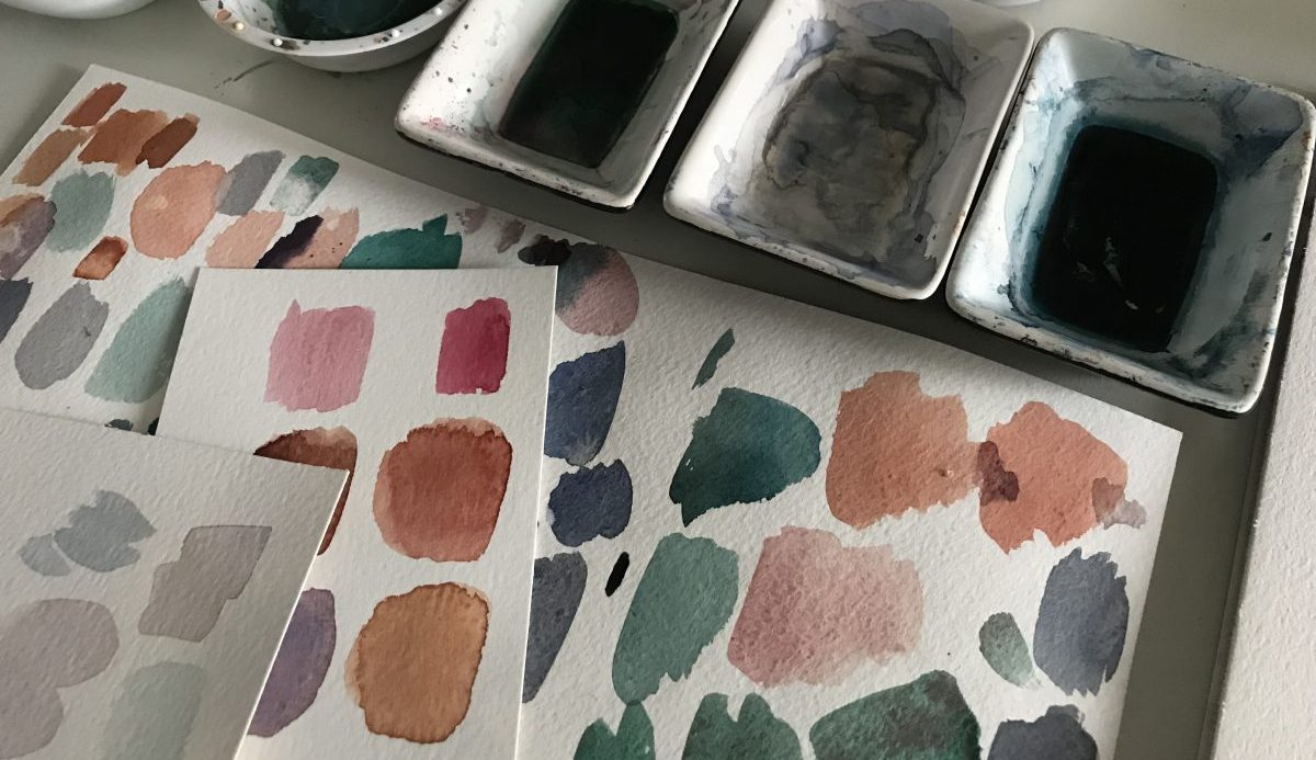 Schilderproces - Painting proces; paint swatches