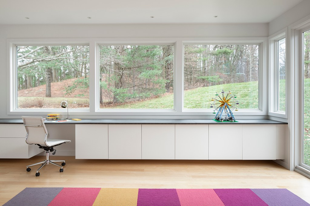 Mid-Century Modern Renovation play room home office
