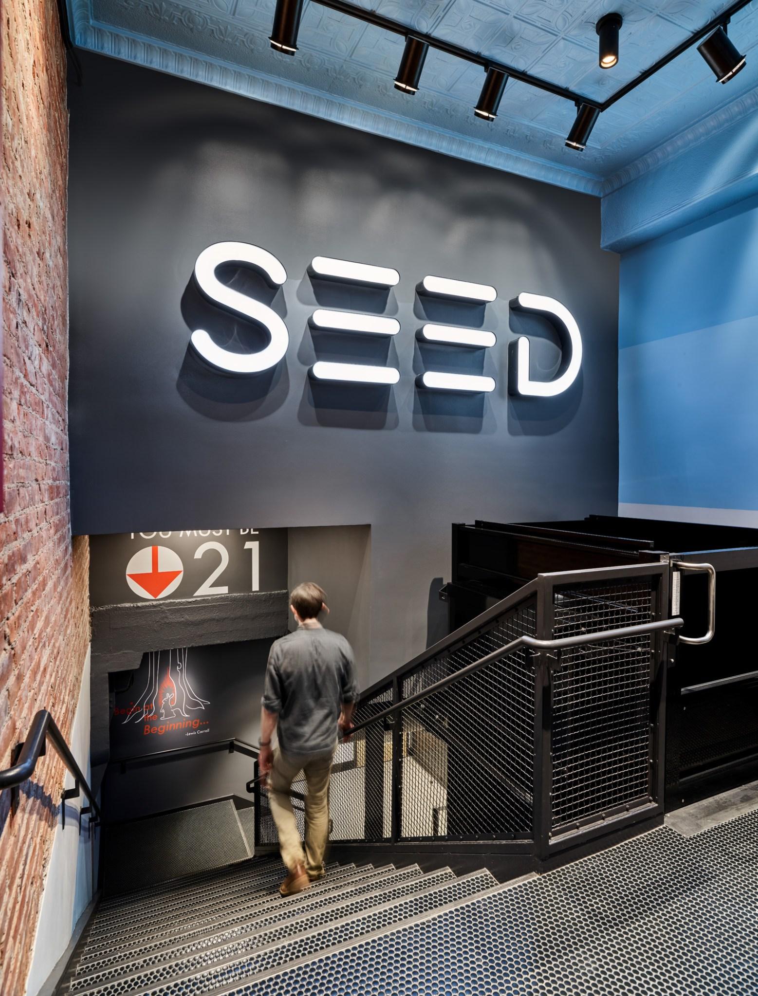 Seed retail cannabis entry lobby