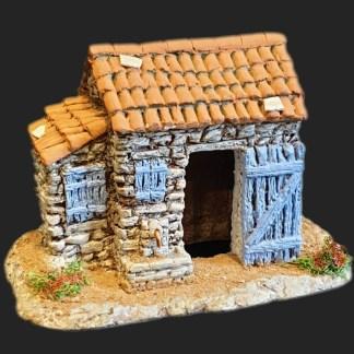 Maison de village cabane du berger bleu – Atelier de Fanny – Santon – Santons – Décors de crèche – Aubagne – Provence – Crèche de Provence – Santon de provence.jpg