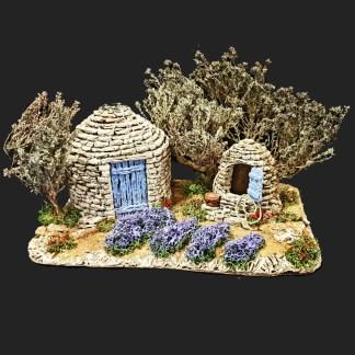 Scène bories de Provence – atelier de Fanny – Aubagne -provence – santon de provence -santon – décors de provence – décors de crèche – crèches de Provence- accessoire de Provence -artisan – made in france – france