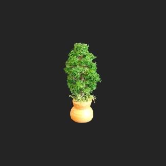 jarre arbre fleuri vert de provence – atelier de Fanny – Aubagne -provence – santon de provence -santon – décors de provence – décors de crèche – crèches de Provence- accessoire de Provence -artisan – made in france – france