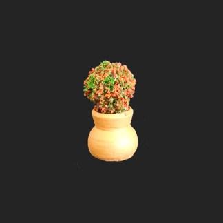 jarre fleurs rouges de provence – atelier de Fanny – Aubagne -provence – santon de provence -santon – décors de provence – décors de crèche – crèches de Provence- accessoire de Provence -artisan – made in france – france