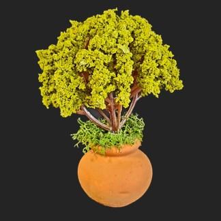 grosse jarre arbre vert 'CM-  Aubagne -provence – santon de provence -santon – décors de provence – décors de crèche – crèches de Provence- accessoire de Provence -artisan – made in france – france