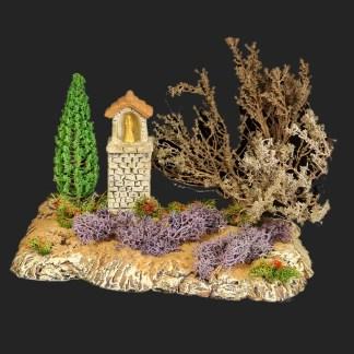 Oratoire de Provence dans les lavandes pour votre décor de crèche