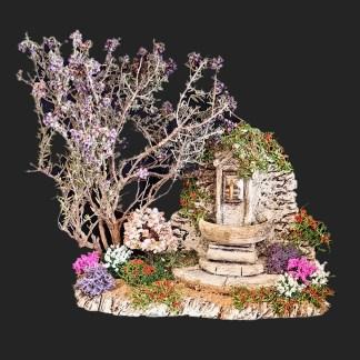 la fontaine aux fleurs de provence pour votre décor de crèche