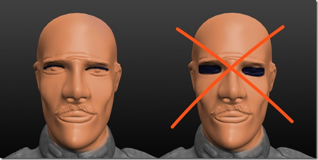 Figurines 28 mm: comment peindre les yeux .