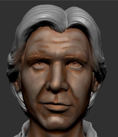 éclaircir le visage d'une figurine