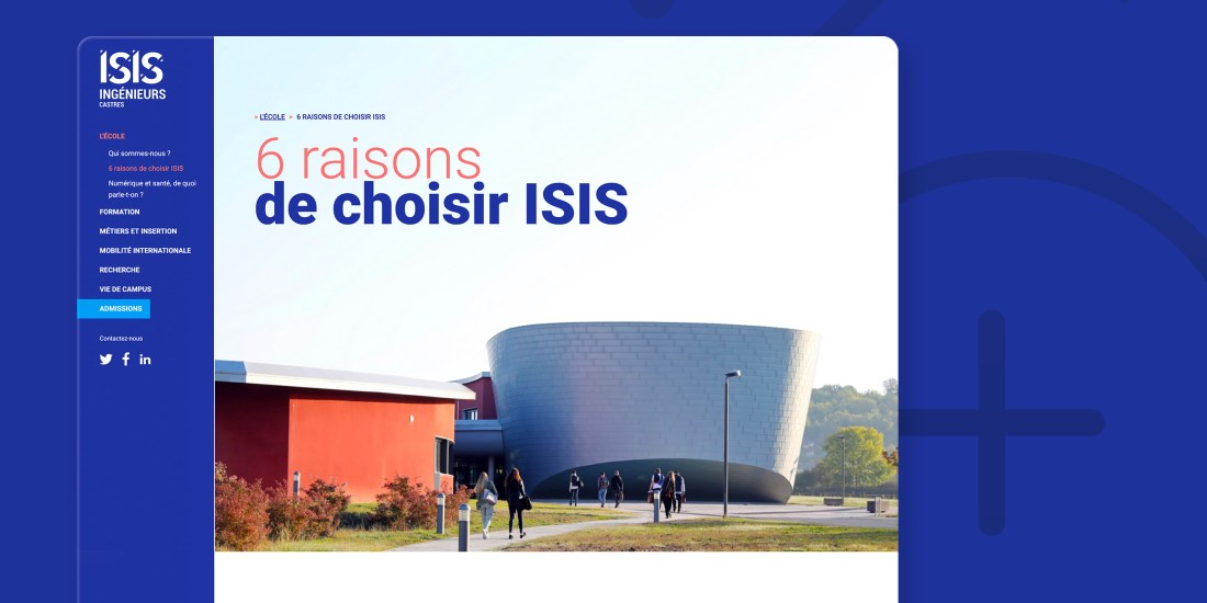 Conception du webdesign du site d'ISIS