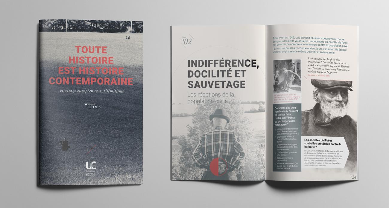 """Brochure de l'exposition """"La shoah par balle"""""""