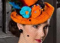 palarie crosetata top hat