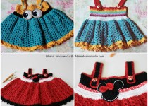 happy baby crochet dress