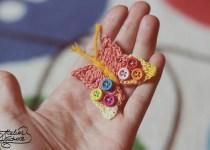 cum sa crosetezi un fluture