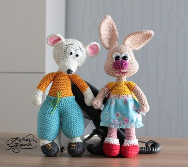 bunny-mouse-amigurumi crochet pattern