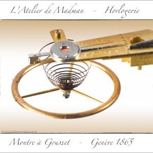 Particularité de ce balancier à cylindre : l'intérieur du vylindre est fait en saphir.