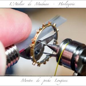 La lime saphir réduit le diamètre du pivot de 3 centièmes.