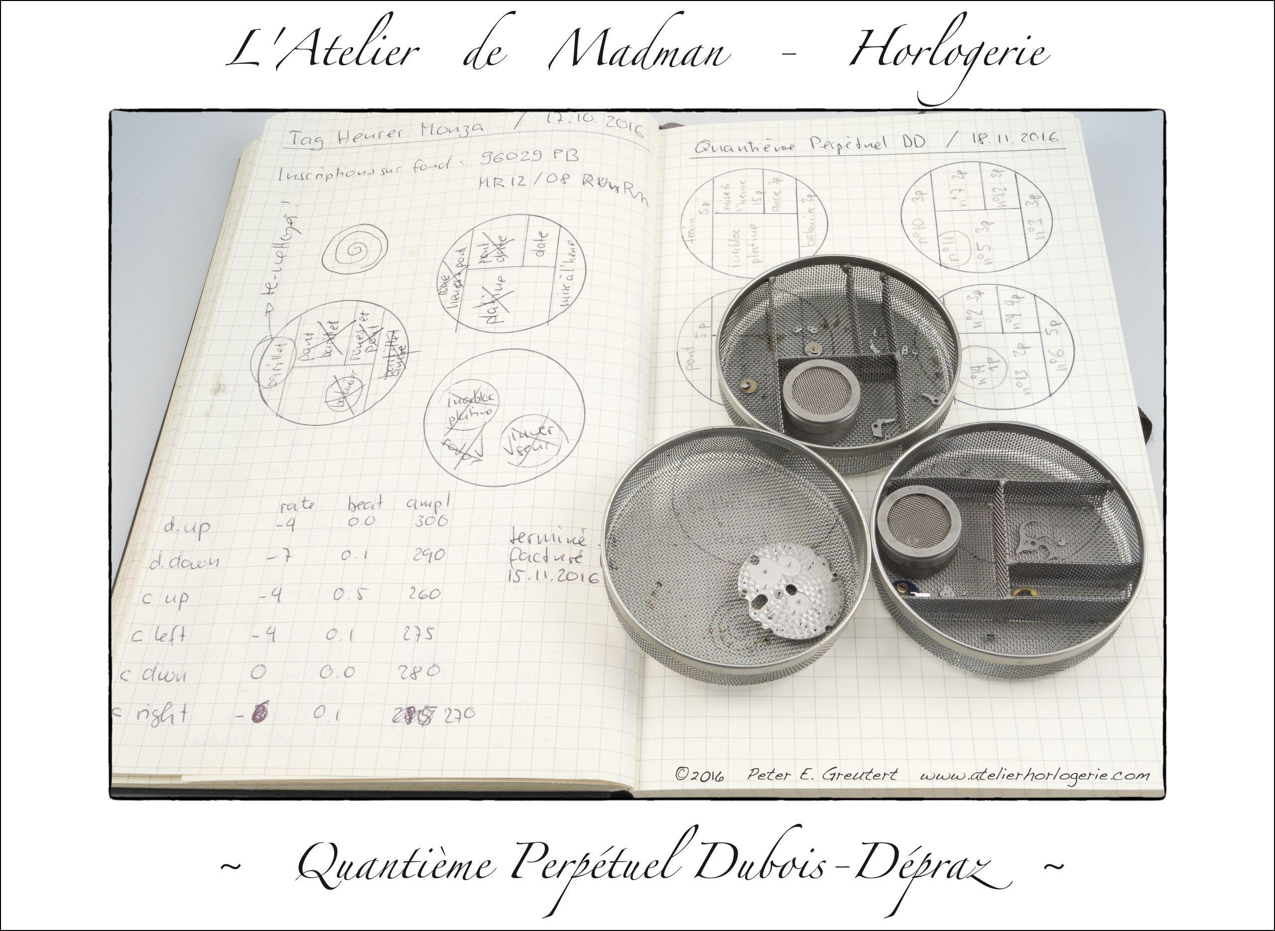 Repérage des pièces du QP dans les paniers.