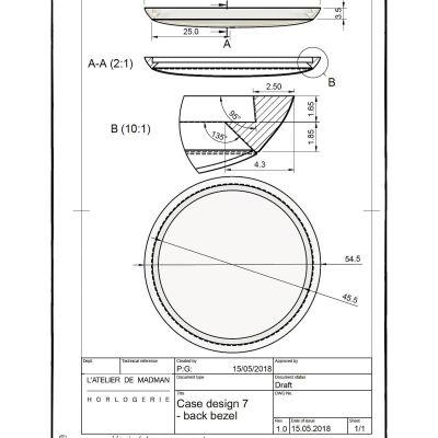 Plan de la lunette de fond