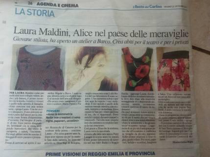 foto giornale maldini