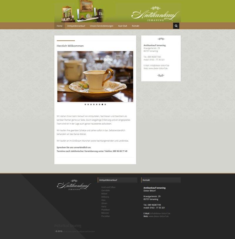 Webdesign Antikankauf Ismaning