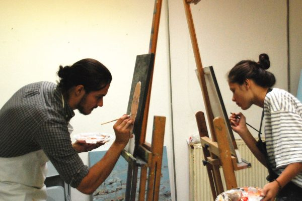 portretschilderen met acrylverf